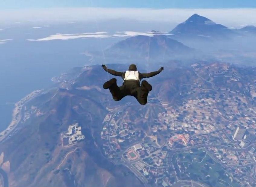 la chute libre dans GTA V